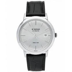 Eterna Eternity Automatic Silver/Black Silver/Black Leather 40mm