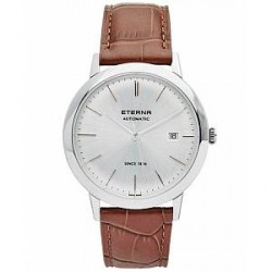 Eterna Eternity Automatic Silver/Brown Silver/Brown Leather 40mm