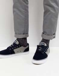Etnies Barge LS Trainer In Black - Navy