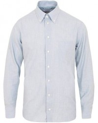 Eton Contemporary Fit Flannel Button Down Shirt Blue