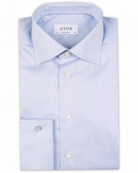 Eton Contemporary Fit Shirt Double Cuff Blue