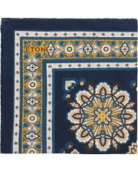 Eton Cotton/Silk Printed Pocket Square Blue men One size Blå