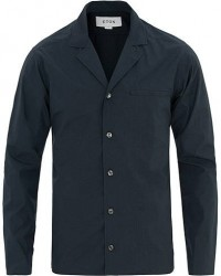 Eton Poplin Resort Shirt Navy
