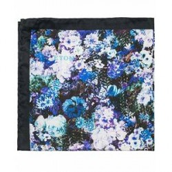 Eton Printed Flower Silk Pocket Square Multi