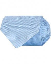 Eton Silk Basket Weave Tie Light Blue
