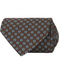 Eton Silk Geometric Print Tie Brown men One size Brun