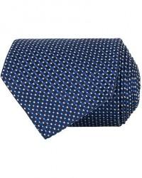 Eton Silk Geometric Weave Tie Navy men One size Blå
