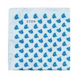 Eton Silk Printed Flower Pocket Square Blue
