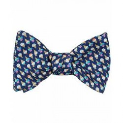 Eton Silk Printed Ice Cream Self Bow Tie Blue