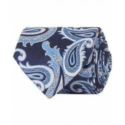 Eton Silk Woven Paisley 8 cm Tie Navy