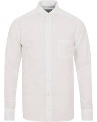 Eton Slim Fit Cotton/Silk Shirt White