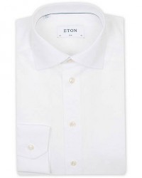 Eton Slim Fit Poplin Shirt White
