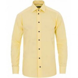 Eton Slim Fit Poplin Structure Shirt Yellow