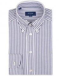 Eton Slim Fit Royal Oxford Stripe Button Down Navy