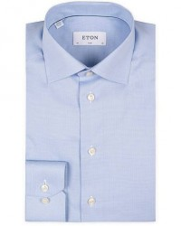 Eton Slim Fit Shirt Pepita Blue