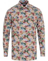 Eton Slim Fit Signature Twill Printed Flower Shirt Multi