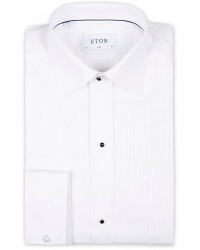 Eton Slim Fit Tuxedo Shirt Black Ribbon White