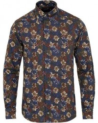 Eton Slim Fit Twill Printed Flower Shirt Multi