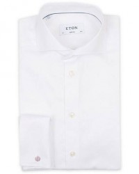 Eton Super Slim Fit Double Cuff Shirt White