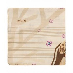 Eton Wool/Silk Lion Pocket Square Beige
