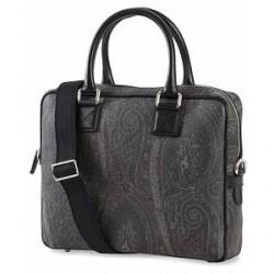 Etro Computer Bag Paisley Black