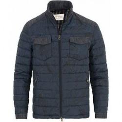 Etro Down Printed Paisley Jacket Navy
