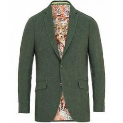 Etro Linen Blazer Green