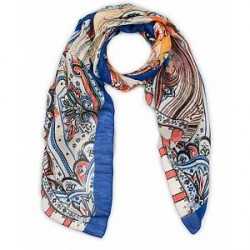 Etro Linen/Silk Printed Paisley Scarf Multi