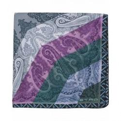 Etro Mulitcolour Paisley Slk Pocket Square Multi