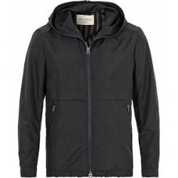 Etro Nylon Printed Paisley Hooded Jacket Navy