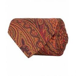 Etro Paisley 8 cm Tie Dark Orange