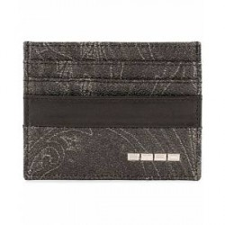Etro Paisley Credit Card Holder Black