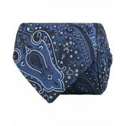 Etro Paisley Silk 8 cm Tie Blue