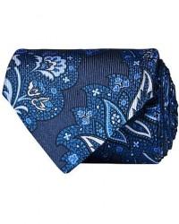 Etro Paisley Silk 8 cm Tie Navy men One size Blå