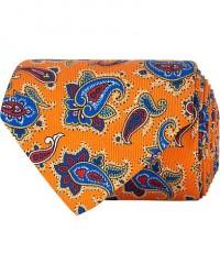 Etro Paisley Silk 8 cm Tie Orange men One size Orange