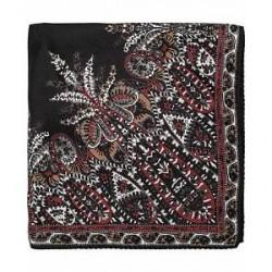 Etro Paisley Silk Pocket Square Black