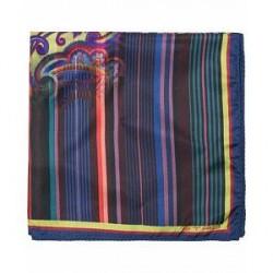 Etro Paisley Silk Pocket Square Multi