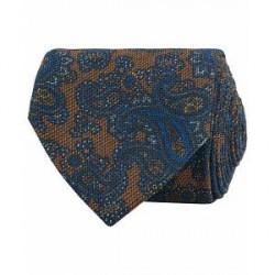 Etro Paisley Wool/Silk 8 cm Tie Brown