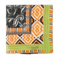 Etro Squares and Pasiley Printed Pocket Square Orange