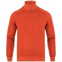 Etro Wool Vintage Turtleneck Orange