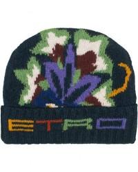 Etro Wool/Alpaca Hat Multi men One size Flerfarvet