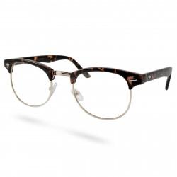 EverShade Brune/Guldfarvede Transparente Vintage Briller