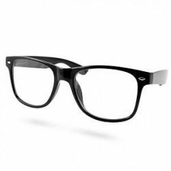 EverShade Små Sorte Retro Briller med Klare Glas