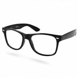 EverShade Sorte Retro Briller Med Klart Glas