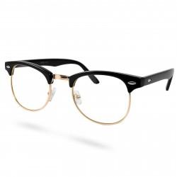 EverShade Sorte/Guld Transparente Vintage Briller