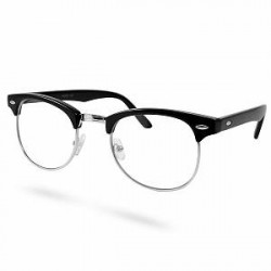 EverShade Sorte/Sølv Klare Vintage Briller