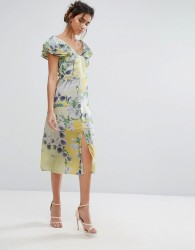 Every Cloud Floral Ruffle Midi Dress - Multi