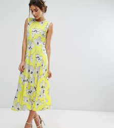 Every Cloud Graphic Floral Midi Dress - Multi
