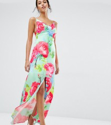 Every Cloud Rose Print Strappy Maxi Dress - Multi