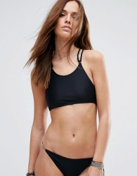 Evil Twin High Neck Bikini Top With Hardwear - Black